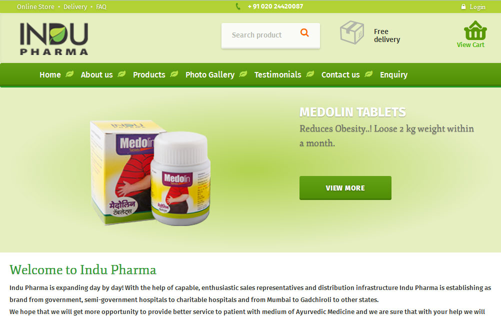 website design and developement for phrma, ayurvedic products,