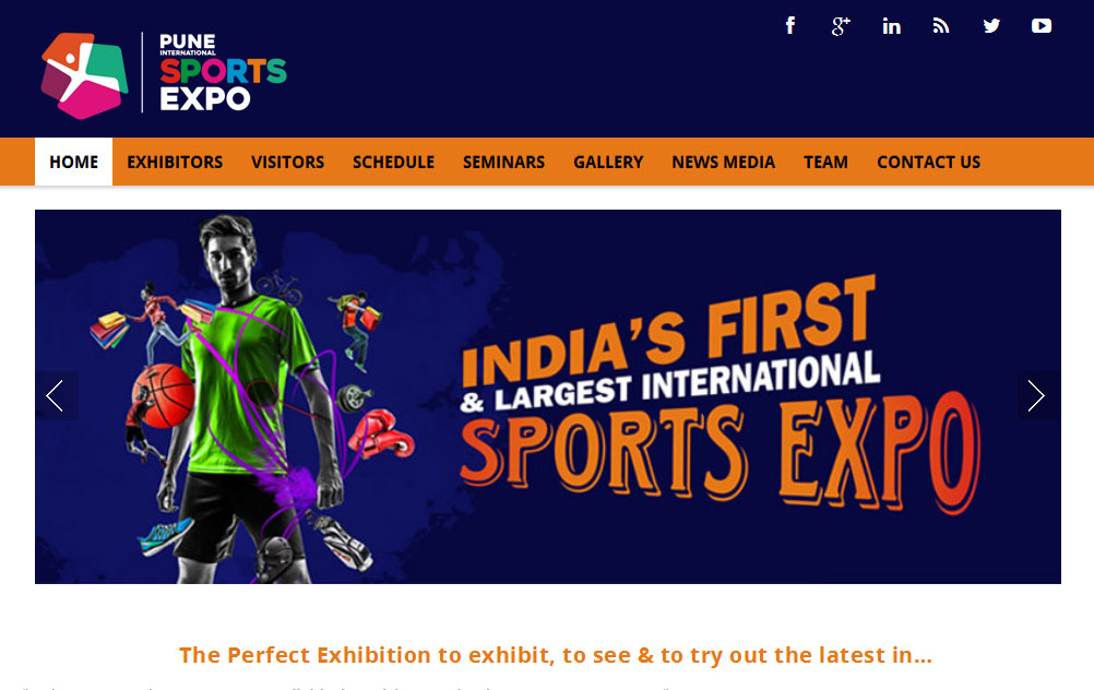website design and developement for event, sports expo