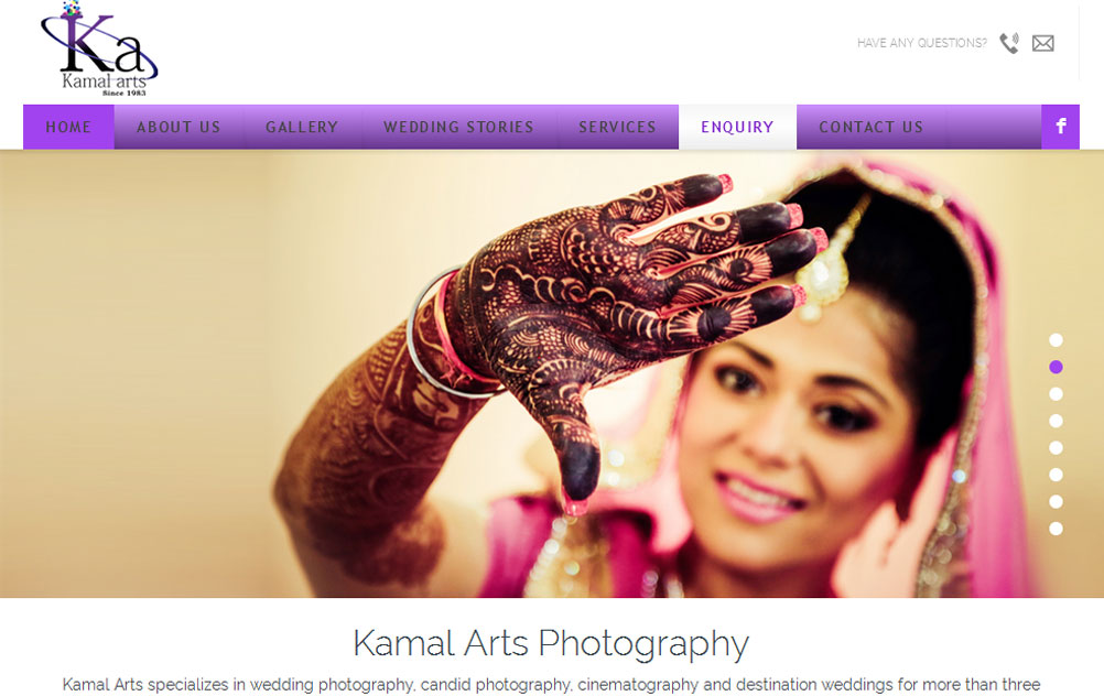 website designing for photographers, artists, writers, musician, studio